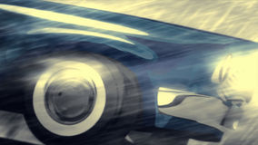 Animated cool car Stock Photography