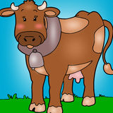 Animated cow. Royalty Free Stock Photo