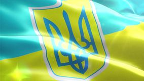 Animated 3D flag of Ukraine stock video footage