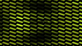 Animated dark yellow background with small rectangles in angle stock footage