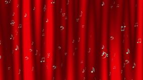 Animated dynamic background with music notes and marks