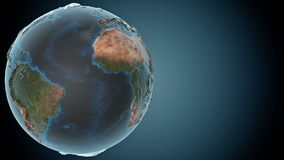 Animated earth with detailed terrain stock footage