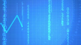 Animated economical data stock video footage