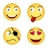 Animated emoticons stock illustration