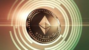 Animated Ethereum symbol