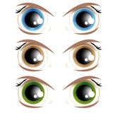 Animated eyes Royalty Free Stock Photography