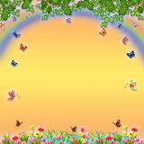 Animated fantastic background banner Royalty Free Stock Images