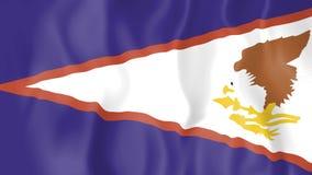 Animated flag of American Samoa stock video footage