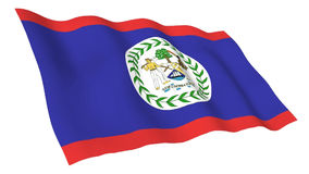 Animated flag of Belize stock video