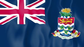 Animated flag of Cayman Islands stock video