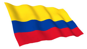 Animated flag of Colombia stock video footage