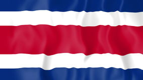 Animated flag of Costa Rica