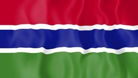 Animated flag of Gambia