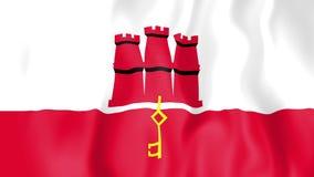 Animated flag of Gibraltar