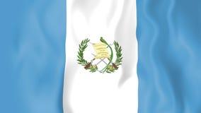 Animated flag of Guatemala stock footage