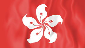 Animated flag of Hong Kong stock video footage