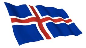 Animated flag of Iceland stock video footage