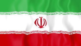 Animated flag of Iran stock video