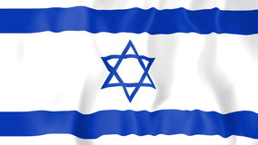 Animated flag of Israel stock video