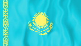 Animated flag of Kazakhstan stock video
