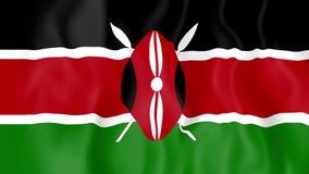 Animated flag of Kenya stock footage