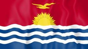 Animated flag of Kiribati stock video footage