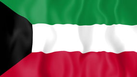 Animated flag of Kuwait stock video