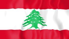Animated flag of Lebanon
