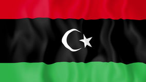 Animated flag of Libya stock video footage