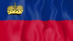 Animated flag of Liechtenstein stock footage