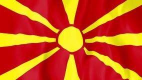 Animated flag of Macedonia stock footage