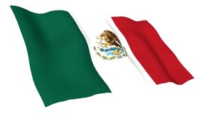 Animated flag of Mexico stock footage