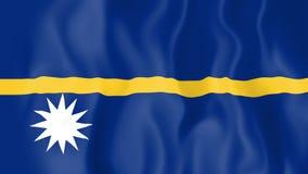 Animated flag of Nauru stock illustration