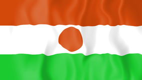 Animated flag of Niger vector illustration