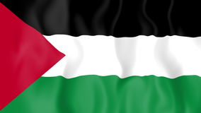 Animated flag of Palestine royalty free illustration