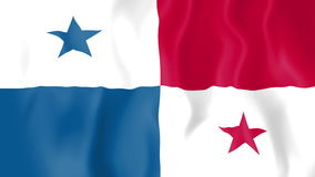 Animated flag of Panama royalty free illustration