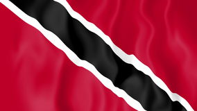 Animated flag of Trinidad and Tobago stock video