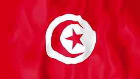 Animated flag of Tunisia stock video