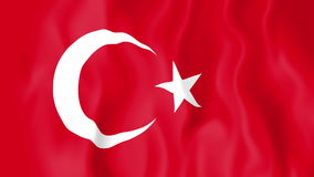 Animated flag of Turkey. In slow motion stock footage