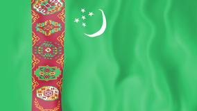 Animated flag of Turkmenistan stock footage