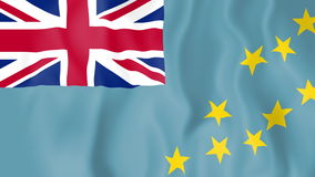 Animated flag of Tuvalu. In slow motion stock video footage