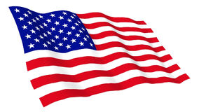Animated flag of USA stock video