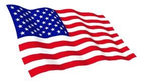 Animated flag of USA stock video
