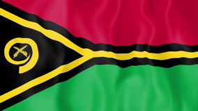 Animated flag of Vanuatu. In slow motion stock footage