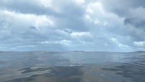 Animated flowing transparent ocean water loop able. 3D rendering 4K stock video