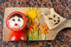 Animated food countryside Stock Photography