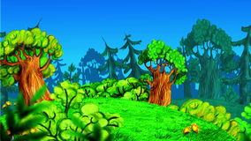 Animated forest