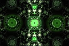 Animated fractal frequency space universe galaxy psychedelic music or for any other concept. Geometric patterns Stock Photography