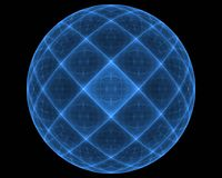 Animated fractal frequency space universe galaxy psychedelic music or for any other concept. Geometric patterns Royalty Free Stock Photo