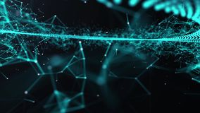 Animated futuristic background. Technology, science social networking and engineering motion background.